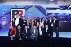 Weber Shandwick Asia Pacific celebrating PRWeek Awards Asia wins.