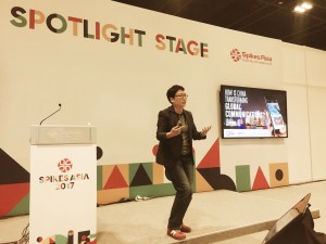 Lydia Lee, presenting at The Spikes Asia Festival of Creativity in Singapore.
