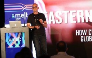 Darren Burns speaking at Zee Melt 2017